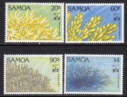 Samoa 1994 Corals Hong Kong Exhibition Overprints Set Of 4, MNH, SG 916/9 - Samoa