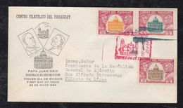 Paraguay 1964 FDC PAPA JUAN XXIII To General President Alfredo Stroessner With Signature Autograph - Autographs