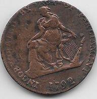 Grande Bretagne - Incorporated By Act Of Parlament  - Camac - 1792  - Cuivre - Grande-Bretagne
