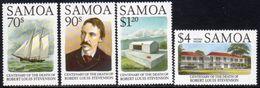 Samoa 1994 Robert Louis Stevenson Death Centenary Set Of 4, MNH, SG 929/32 - Samoa
