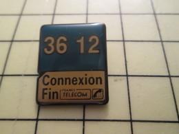 Pin910d Pin's Pins / Beau Et Rare : INFORMATIQUE / FRANCE TELECOM MINITEL 36 12 - Computers