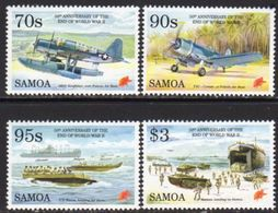 Samoa 1995 50th Anniversary Of End Of WWII Set Of 4, MNH, SG 961/4 - Samoa