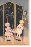 Illustrator - F. Baumgarten - Children, Enfants, Kinder, Folding Screen, Flowers, Des Fleurs - Baumgarten, F.