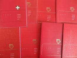 Suisse Plusieurs Années Complètes Neufs ** MNH Dans Des Livrets De La Poste 1982/1991. TB. A Saisir! - Suisse