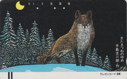 Télécarte Ancienne Japon / NTT 430-041- Animal - RENARD D'HOKKAIDO - FOX JAPAN Front Bar Frontbar Phonecard  TBE - FUCHS - Japan
