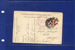 ##(DAN183)-2-10-1915-cart. Post. In Franchigia, 16^ Presidiaria Autonoma  Ann. Ufficio Posta Militare 9^ Divisione - Weltkrieg 1914-18