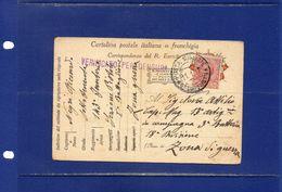 ##(DAN183)-11-1-1917-cartolina Postale In Franchigia Affrancata Cent.10 , Annullo  Posta Militare 8° Corpo D'Armata - Guerre 1914-18