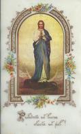 Santino: MARIA SS.  - Celluloide - Retro Senza Preghiera - Foto Applicata - Mm. 80 X 130 - Religione & Esoterismo