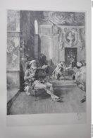 GRAVURE 1088 / LES BIBLIOPHILES Par EMILE BOILVIN Né à METZ En 1845 - Stiche & Gravuren
