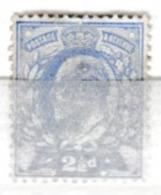 Roi Edouard VII 1902: 2p 1/2 Vert-jaune,  Filigrane 'couronne', Neuf *, TB ! - 1902-1951 (Koningen)