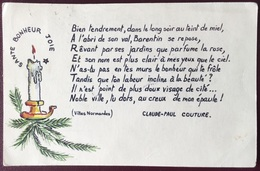 Carte Postale Manuscrite Et Dessinée Manuellement De Jean-Paul Couture De 1963 - Unclassified