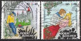 Germania 2015 Mi. 3133-3134 Favole : DORN-ROSCHEN - Bella Addormentata Grimm Used Deutschland Germany - Fiabe, Racconti Popolari & Leggende