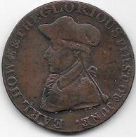 Grande Bretagne  - Earl Howe & The Glorious First Of June - 1794 - Cuivre - Grande-Bretagne
