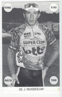 CYCLISME . Carte De Johan MUSEEUW - Radsport