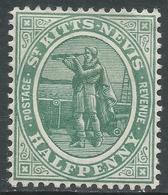 St Kitts-Nevis. 1905 Christopher Columbus. ½d MH. Mult Crown CA W/M. SG 12 - St.Christopher-Nevis-Anguilla (...-1980)