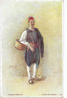 Grèce - Illustrateur - Paysan De Corfou - Greece