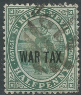 St Kitts-Nevis. 1916 War Tax. ½d Used. SG 22 - St.Christopher-Nevis-Anguilla (...-1980)