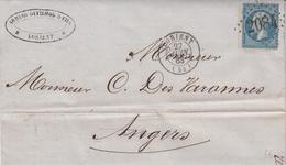 LAC Affr Y&T 22 Obl GC 2084 + TàD LORIENT Du 27 JUIN 63 Adressée à Angers - Marcophilie (Lettres)