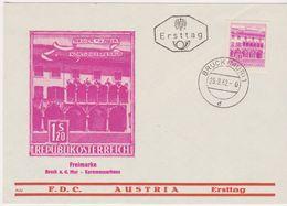 FDC 1962 - Mi.1116 : Freimarke : Kornmesserhaus In Bruck An Der Mur , ST Bruck An Der Mur 1 - 1945-.... 2nd Republic