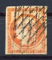 RC 8002 FRANCE N° 5 40c ORANGE TYPE CERES OBL GRILLE SANS FIN SIGNÉ CALVES - 1849-1850 Cérès