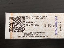 Ticket DeTram Lodz (Pologne) - Europe
