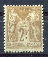 RC 8003 FRANCE N° 105 2f BISTRE SUR AZURÉ TYPE SAGE COTE 200€ NEUF * - 1898-1900 Sage (Type III)