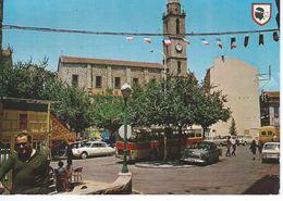 CPM - 20A -  CORSE - SARTENE -  L'Eglise Et La Place - TBE - Voitures De 1974 - Sartene