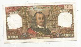 Billet , 100 Francs , CORNEILLE , 1-7-1965 , 2 Scans - 1962-1997 ''Francs''