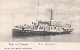 """Dampfer """"Württemberg"""" - Gruss Vom Bodensee - 1905       (A-69-160221) - Paquebots"""