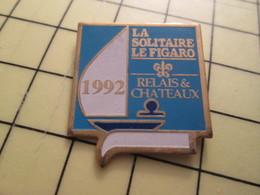 Pin910d Pin's Pins / Beau Et Rare : SPORTS / VOILE COURSE VOILIER REGATE LE FIGARO RELAIS  CHATEAUX - Sailing, Yachting