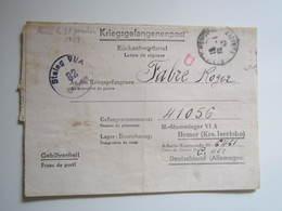 1943 BEZIER LETTRE DE REPONSE Kriegsgefangenenpost AU PRISONNIER DE GUERRE STALAG VI A 82 CAMP DE TRAVAIL C 141 FABRE - 2. Weltkrieg 1939-1945