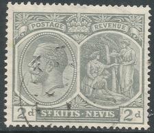 St Kitts-Nevis. 1921-29 KGV. 2d Used. Mult Script CA W/M SG 41 - St.Christopher-Nevis-Anguilla (...-1980)