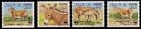 (002) Sudan  WWF Donkey / Onager / Animals / Animaux / Tiere / Dieren  ** / Mnh  Michel 471-74 - Sudan (1954-...)