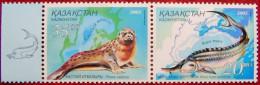 2002  Kazakhstan -Ukraina Joint  Issue Fauna  2 V MNH - Kazakhstan