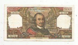 Billet , 100 Francs , CORNEILLE , 2-12-1965 , 2 Scans - 1962-1997 ''Francs''