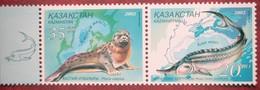 2002  Kazakhstan -Ukraina Joint  Issue Fauna  2 V MNH - Vie Marine