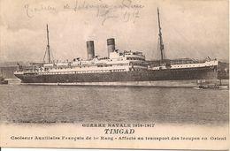 Bateau TIMGAD - Transport De Troupes Entre Salonique Et Le Pirée,1917 - Grèce