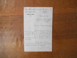 FRESNOY LE GRAND AISNE ECOLE PUBLIQUE DE GARCONS ET COURS COMPLEMENTAIRE MIXTE LE DIRECTEUR COURRIER DU 27 MAI 1960 - Manuskripte