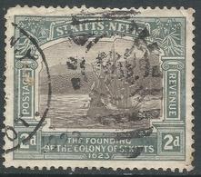 St Kitts-Nevis. 1923 Tercentenary Of Colony. 2d Used. SG 51 - St.Christopher-Nevis-Anguilla (...-1980)