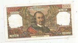 Billet , 100 Francs , CORNEILLE , 5-10-1967 , 2 Scans - 1962-1997 ''Francs''