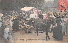 ¤¤  -   PARIS   -  Parc Des Buttes Chaumont En Promenade  -  Attelage D'Ane      -  ¤¤ - Arrondissement: 19