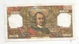 Billet , 100 Francs , CORNEILLE , 2-5-1968 , 2 Scans - 1962-1997 ''Francs''