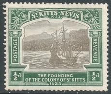 St Kitts-Nevis. 1923 Tercentenary Of Colony. ½d MH. SG 48 - St.Christopher-Nevis-Anguilla (...-1980)