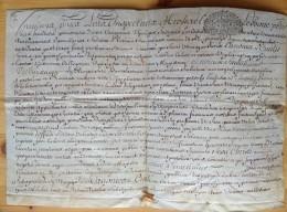 Certificat En Latin, Du Régent De L'Université D'Orléans à Henri De Saint-Hillier . 1726 . Généralité . - Documenti Storici