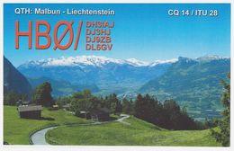** QSL Karte Liechtenstein – Malbun Exklave Der Gemeinde Triesenberg – HB0/DL6GV - Gelaufen ** - Liechtenstein