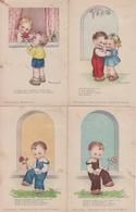 LOTTO 5 CARTOLINE-BAMBINI- ITALIA 1949 CIRCOLATE-VITERBO - Disegni Infantili