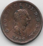 Grande Bretagne - Half Penny - 1806 - 1662-1816 : Antiche Coniature Fine XVII° - Inizio XIX° S.