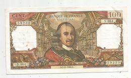 Billet , 100 Francs , CORNEILLE , 7-11-1968 , 2 Scans - 1962-1997 ''Francs''