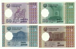 Tajikistan - Serie 4 Valori 1999, - Tagikistan