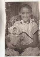 Girl With Its Doll - Nice Photocard - 1917      (A-69-160221) - Games & Toys